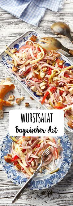 Wurst Salat Bayrisch Bayern Art Gewürzgurken Snack Energie Beilage  Leberkäse däftig