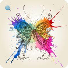 clipart farfalle fiori - Cerca con Google