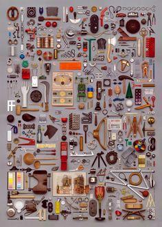"""坂井直樹の""""デザインの深読み"""": 「Things Organized Neatly」というサイトがある。ひたすら物を美しく整理するデザイン。原研哉さんはデザインとは整理である。と常々語っている。"""