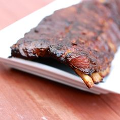 Smoked Pork Ribs on a Masterbuilt Electric Smoker. Recipe by Bobby Flay