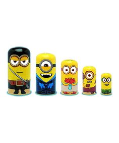 Loving this Minions Nesting Dolls on #zulily! #zulilyfinds