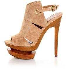Jessica Simpson Cat Camel Suede Slingback Platform Heels (€105) ❤ liked on Polyvore featuring shoes, pumps, suede shoes, cat pumps, suede peep toe pumps, peep toe shoes and suede platform pumps