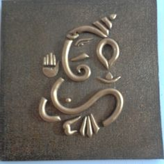 Buy World O Ceramica - Gold Ganesha Wall-hanging Online Clay Wall Art, Mural Wall Art, Mural Painting, Lord Ganesha Paintings, Ganesha Art, Ganesha Drawing, Ganesha Tattoo, Ganesh Statue, Krishna Painting