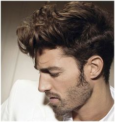 mens curly hairstyles side view