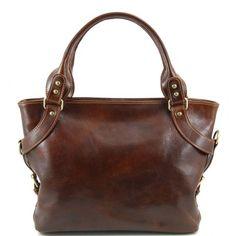 Leather shoulder bags for women - Ilenia - Leather shoulder bag TL140899