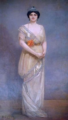 Anita Delgado, born in 1890 Malaga, Spain, a famous flamenco dancer. In 1906, she performed in celebrations on the marriage of the Spanish king, and caught the eye of a visiting dignatry, Jagatjit Singh, the Maharaja of Kapurthala. She was 16, he was 34. After 2 years of courtship, finishing school and French lessons sponsored by the Maharaja, Delgado left behind her work and her life in Spain to live in opulence in the Himalayan foothills, as Maharani Prem Kaur of Kapurthala.