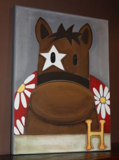 Cute painting , turn into cow