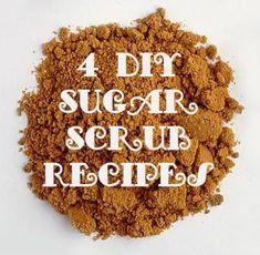 4 DIY Sugar Scrubs t