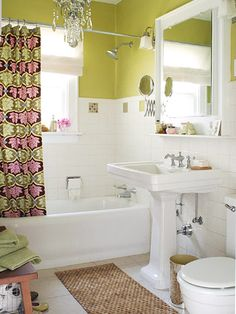 Love this shower curtain and paint.