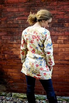 Take a Peek Floral Fall JacketOuterwearLined by Clementinyclothing