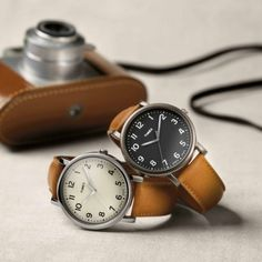Incredible leather banded watches to round out any outfit.