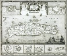 Venetian map of Crete and other small islands Old Maps, Small Island, Crete, Venetian, Archaeology, Vintage Photos, Islands, Vintage World Maps, Flora