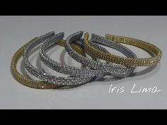 Como decorar diademas con strass, perlas, medias perlas e interlon. Diademas Faciles - YouTube