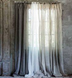 best modern farmhouse living room curtains decor ideas page 2 90 Custom Curtains, Linen Curtains, Door Curtains, Dining Room Curtains, Colorful Curtains, White Walls, Shabby, House Design, Living Room