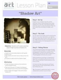 Free Lesson Plan PDF: Shadow Art - Upper Elementary - HS