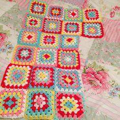 Cath kidston inspired crochet blanket