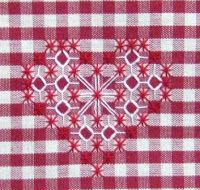 Discover thousands of images about Broderie Suisse, Chicken scratch, Swiss embroidery, Bordado espanol, Stof veranderen. Embroidery Hearts, Embroidery Patterns Free, Hand Embroidery Stitches, Ribbon Embroidery, Cross Stitch Embroidery, Cross Stitch Patterns, Embroidery Designs, Chicken Scratch Patterns, Chicken Scratch Embroidery