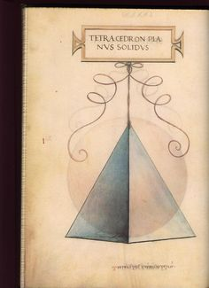 Tetraedro disegnato da Leonardo da Vinci per illustrare l'opera De Divina Proportione di Luca Pacioli (1503)