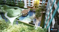 Luxury Swimming Pool Perspective  ภาพมุมสระว่ายน้ำ
