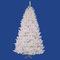 Vickerman Co. Crystal White Spruce 3.5' Artificial Christmas Tree with 110 LED Multicolored Lights with Stand