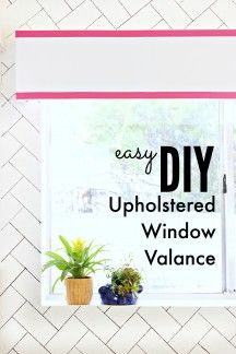 Amazing DIY Upholstered Window Valance! This simple addition to my window has made the room so much better! - Click for tutorial