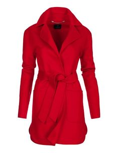 Fashionably casual, double-faced design made of woollen cloth. Fastens with a tie belt to create a feminine shape. Oversized Mantel, Oversized Coat, Mantel Trenchcoat, Madeleine Fashion, Trends, Models, Vintage Outfits, Menswear, Pure Products
