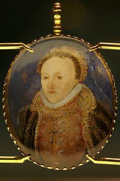 Portrait Miniature of Elizabeth I, Queen of England, circa 1572-1573.