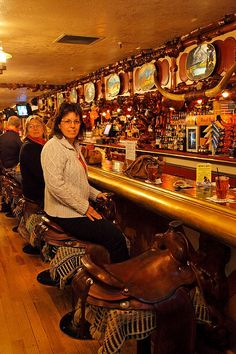Lunch at the Cowboy Bar, Jackson Hole, Wyoming with Lauren