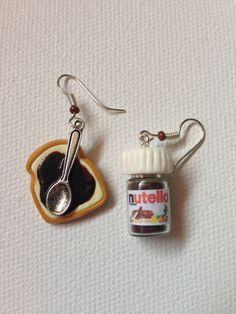 Boucles d'oreilles pâte à tartiner en fimo : Boucles d'oreille par sidofimo-creation