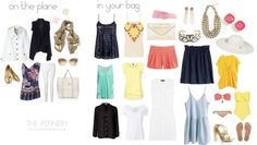 All you need for a week at the beach. Minimalist packing list for vacation.