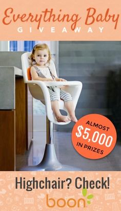 Looking for baby gear that perfectly marries function with design?  Look no further than Boon, Inc! Enter to win their Flair highchair and their Naked bathub at wee.co/win today!