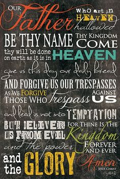 The Lord's Prayer I totally need this!!