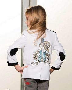 aw15: A tattoo-art jacket from Jagged Culture for the budding rock 'n roller. www.alismarket.com, www.jaggedculture.com