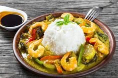 Recette : curry vert de crevettes thaï !