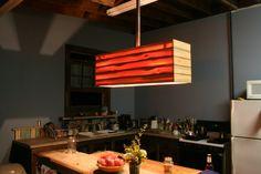 heartpine moderine industrial chandelier
