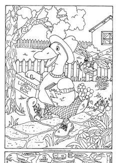 Hidden Pictures Duck School