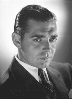 Clark Gable - I like him better without the mustache
