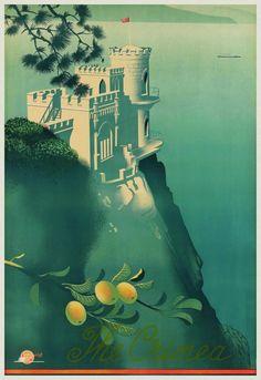 crimea vintage travel poster