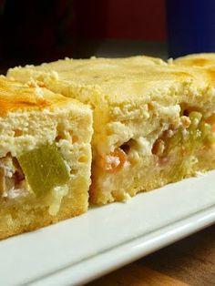 Rhabarber-Quark-Kuchen mit Streuselboden
