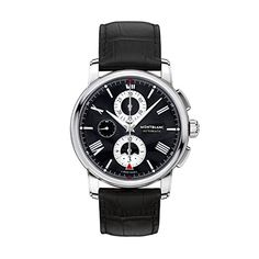 Montblanc-Mens-4810-43mm-Black-Alligator-Leather-Band-Steel-Case-Automatic-Analog-Watch-115123