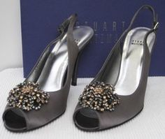 sale ebay cheap looking for Stuart Weitzman Astrology Satin Slingback Pumps collections cheap price sale 2014 y82Rk