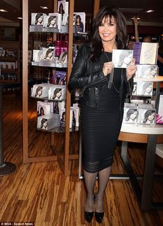 Looking good: Marie Osmond, 56, was looking marvelous and years younger as she signed copies of her new CD Music Is Medicine in Las Vegas, NV on Saturday