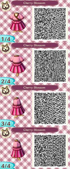 Cherry Blossom - Ethereal Designs http://ethereal-designs.tumblr.com/ Animal Crossing QR Code Designs