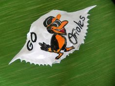 "PAINTED CRAB SHELL  ""GO ORIOLES"" LOGO"