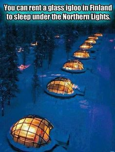 Glass igloos in Finland to watch Northern Lights
