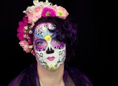 Hope Shots Photography Artist Unique Irish Model Leslie W. Sugar Skull Face painting