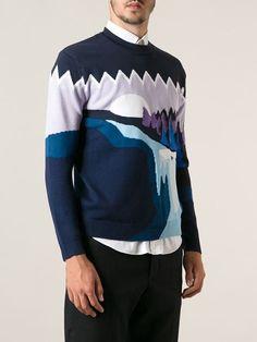 Kenzo 'landscape' Intarsia Sweater - Smets - Farfetch.com