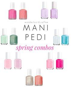 mani pedi combinations - Spring edition