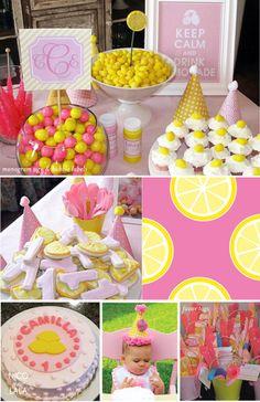 Camilla's pink lemonade birthday party | Nico and Lala