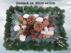 96 Grabgesteck Totensonntag Gesteck Allerheiligen von Blumen-Sprockhoff auf DaWanda.com Grave Decorations, Funeral Flowers, Christmas Wreaths, Projects To Try, Holiday Decor, Fall, Ursula, Home Decor, Outdoor